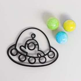 Набор с трафаретным пластилином «Залипайка» 40 , Летающая тарелка