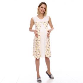 Сорочка женская, цвет молочный/сердца, размер 42