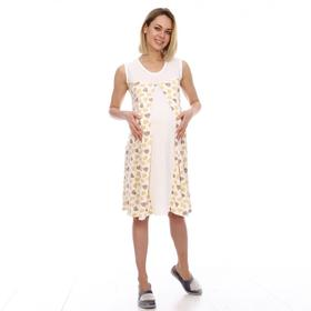 Сорочка женская, цвет молочный/сердца, размер 50