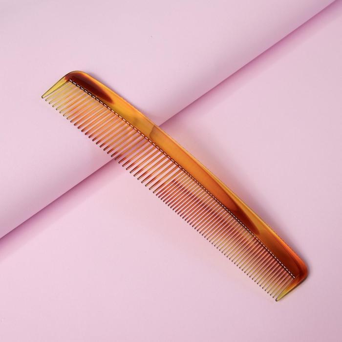 Расчёска комбинированная, 22,5 × 4,5 см, цвет янтарный