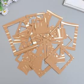 A set of frames with foiling