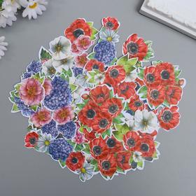 """Набор высечек """"Summer flowers"""" 52 шт"""