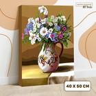 Картина по номерам на холсте с подрамником «Полевые цветы» 40х50 см - фото 7683293