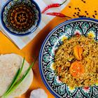 """Canned food """"Uzbek Pilaf with dried apricots"""", 525gr"""