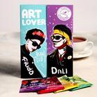 "Black tea ""ART LOVER"", in a postcard, 4 pcs"