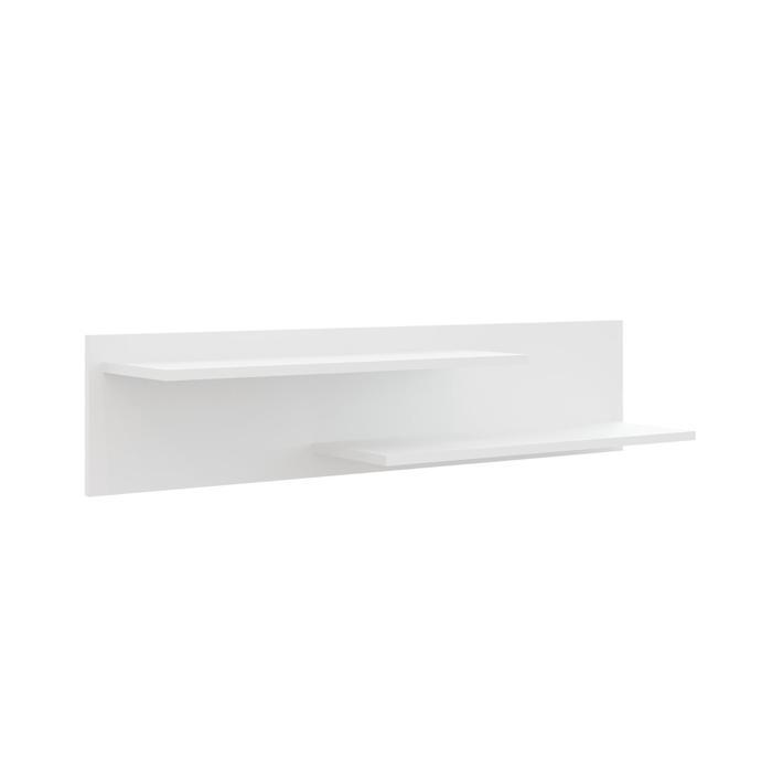 Полка навесная Глосс, 1100х250х235, Белый/Белый глянец - фото 7683218