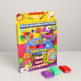 Набор лёгкого прыгающего пластилина из 12 цветов «Неон» TM Moon Light Clay