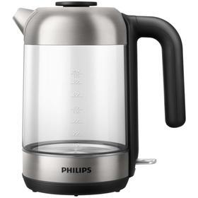 Чайник Philips HD9339/80, стекло, 1.7л, 2200 Вт, чёрный