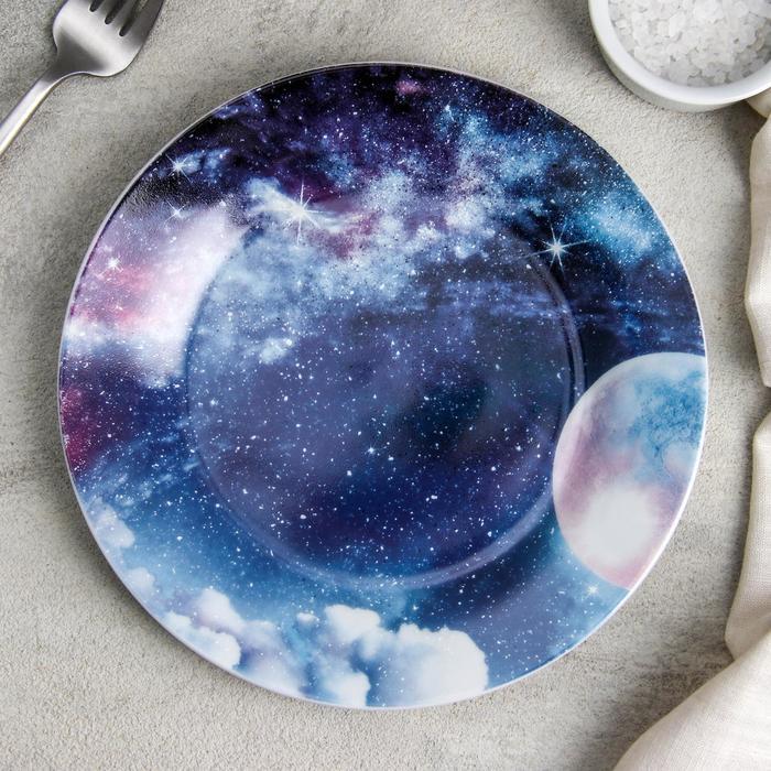 Тарелка десертная Доляна «Звёздная россыпь», d=19 см - фото 7683042