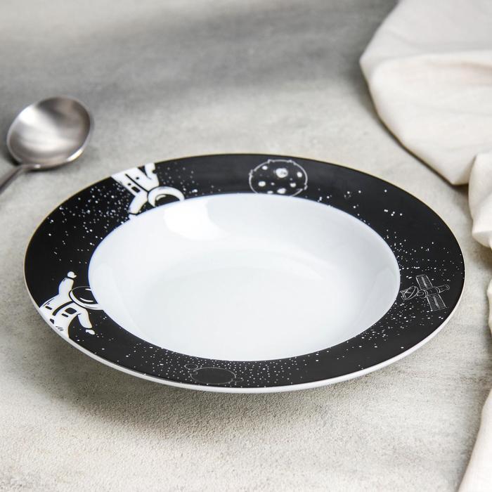 Тарелка суповая Доляна «Космическое притяжение», 300 мл, d=21 см - фото 7683045