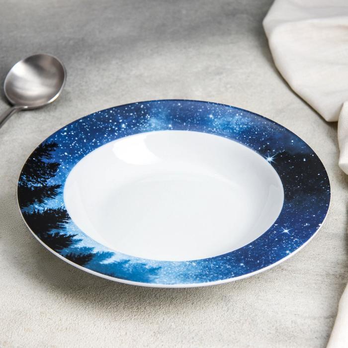 Тарелка суповая Доляна «Звёздная россыпь», 300 мл, d=21 см - фото 7683051