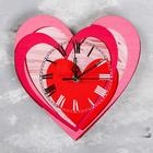"Wall clock ""Hearts"", smooth running, hands mix"
