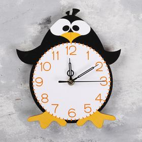 """Часы настенные """"Пингвин"""",  плавный ход, стрелки микс"""