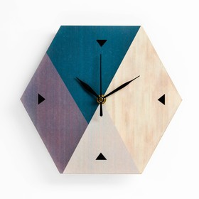 """Wall clock """"Geometry"""", smooth running, hands mix"""
