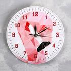 "Wall clock ""Flamingo"", d=23.5. smooth running, hands mix"