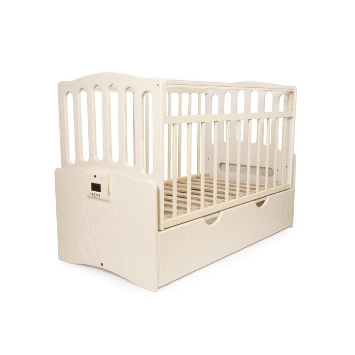 """Детская автоматическая кроватка """"Укачай-ка"""" 03, ваниль - фото 7683133"""