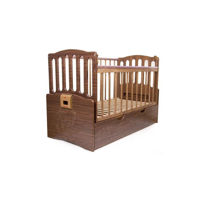 """Детская автоматическая кроватка """"Укачай-ка"""" 03, орех - фото 7683150"""