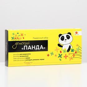 Подарочный набор детский «Панда»: фитосбор и травы для купания