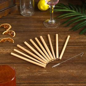 {{photo.Alt || photo.Description || 'Трубочки для коктейля 10 шт 15х10х1 см бамбук'}}