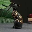 """Фигура """"Кошка ушастая"""" 7 × 8 × 19 см 088 черная"""