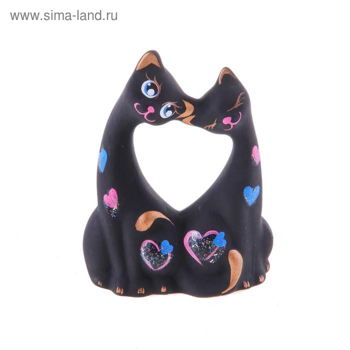 """Сувенир """"Коты влюбленные"""" малые черные"""