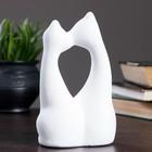 """Фигура """"Коты влюбленные"""" большие белые 6×11×17см 038 - фото 1700904"""