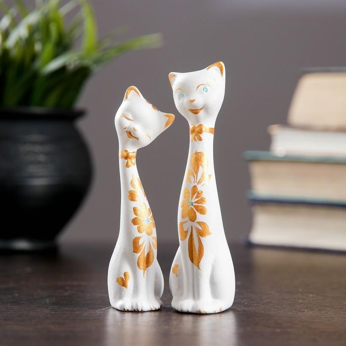 """Фигура """"Love Коты"""" набор 2шт белые 35×35×115см"""