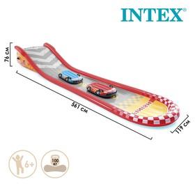 Надувная гоночная трасса 561 х 119 х 76 см, с 2-мя машинами, 100 кг, от 6 лет 57167NP
