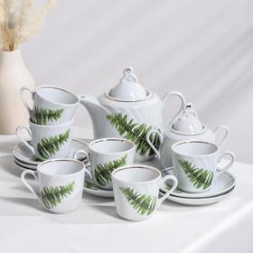 Сервиз чайный «Папоротник», 14 предметов