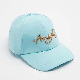 Baseball cap for girls MINAKU, color blue, r-r 52 cm