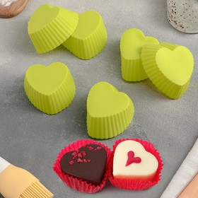"""A set of forms for baking """"Rib. Heart"""", 6 PCs, MIX color"""