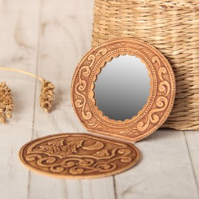 Mirror Nochka, on hinges, elm