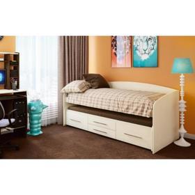 Кровать двухъярусная «Адель 5», 80 × 190 см, цвет дуб молочный