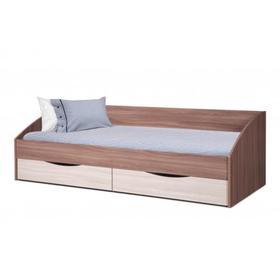 Кровать Фея-3 симметричная 900х2000 ясень шимо тёмный/светлый