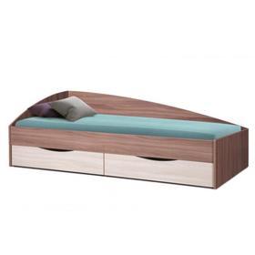 Кровать Фея-3 асимметричная 1900х800 ясень шимо темный/светлый