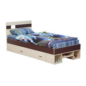 Кровать Некст 900х2000 вудлайн кремовый/баклажан