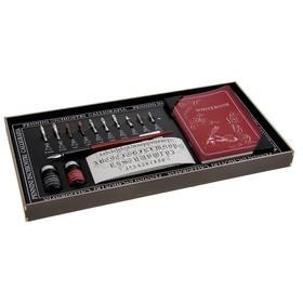 Письменный набор (перо 10 видов, грифель, чернила, блокнот)