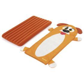 Спальный набор Adventure Chasers Puppy, детский 158 x 66 см (спал мешок+матрас) 68109