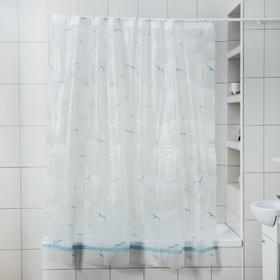 "Штора для ванной ""Чайки"", 180х180 см, EVA"