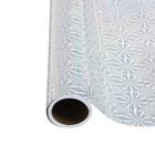 Пленка самоклеящаяся голография серебро круги 0,45м х3м 3мкр микс
