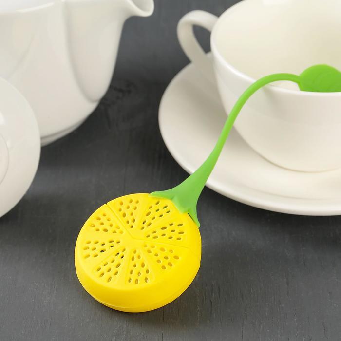 Ситечко для чая «Лимон», 10×5 см, цвет МИКС - фото 308022893