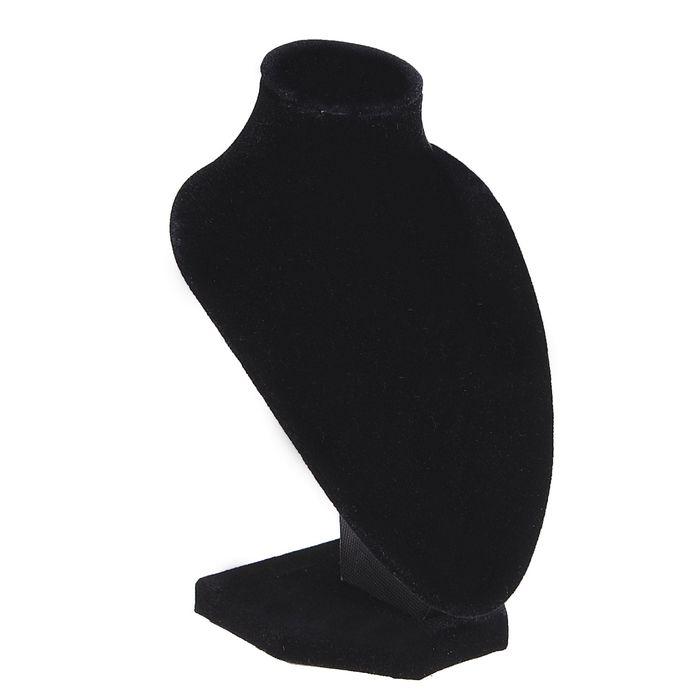 Бюст для украшений, 10*9*15 см, h=15 см, цвет чёрный