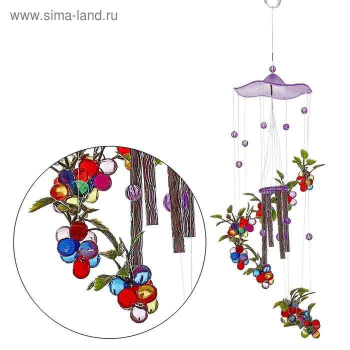 "Музыка ветра ""Виноград"" 4 трубочек , 11 фигурок"