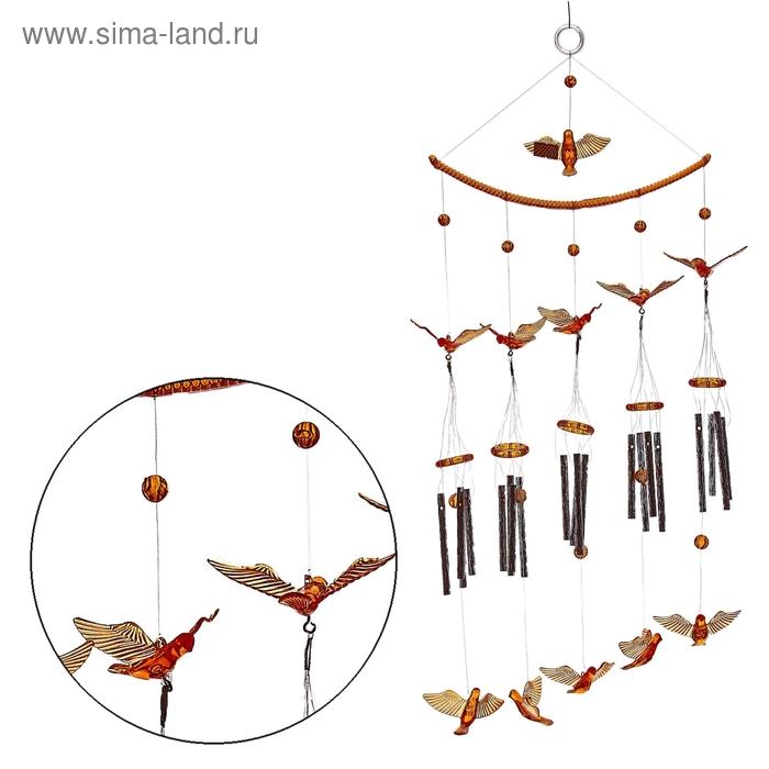 """Музыка ветра """"Птицы"""" 20 трубочек, 11 фигурок"""