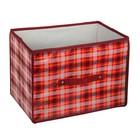 """Короб для хранения 37х27х27 см """"Шотландка"""", цвет красный"""
