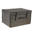 """Короб для хранения с крышкой 50×40×30 см """"Роскошь"""", цвет чёрно-золотой"""