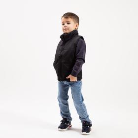 Children's vest, color black, height 110-116 cm