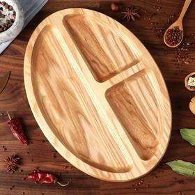 """{{photo.Alt    photo.Description    'Тарелка-доска для закусок и нарезки """"Овальная"""", 35 х 25 см, массив ясеня'}}"""