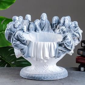 """Фигурное кашпо """"Чаша 12 апостолов"""" антик, 38х30х30см"""