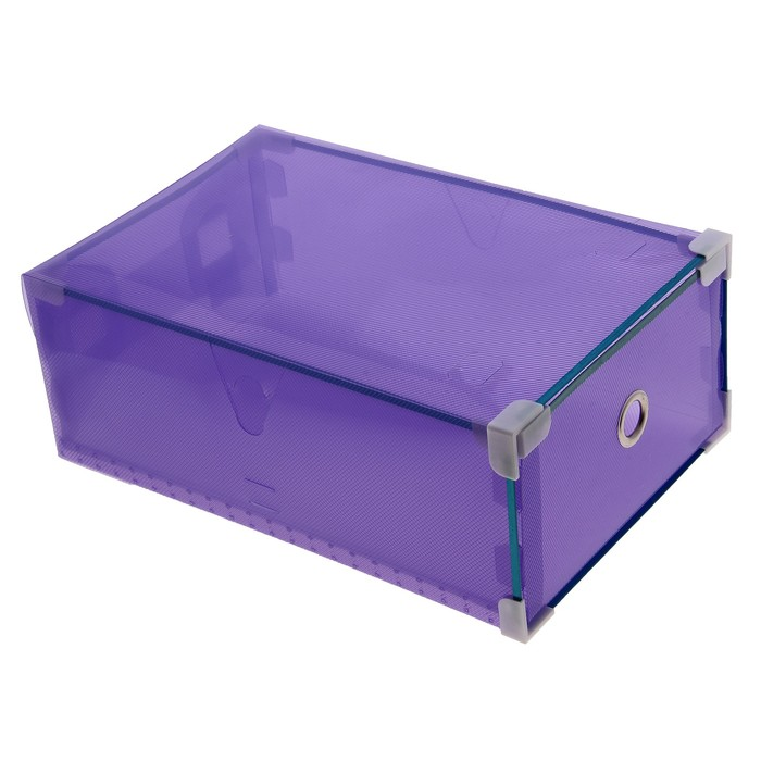 Короб для хранения выдвижной «Моно», 22×34×13 см, цвет фиолетовый - фото 308334811